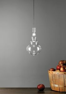 Honey transparent, Suspension lamps in borosilicate blown glass