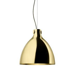 Indi-Pendant Round Lamp, Suspension lamp in brass