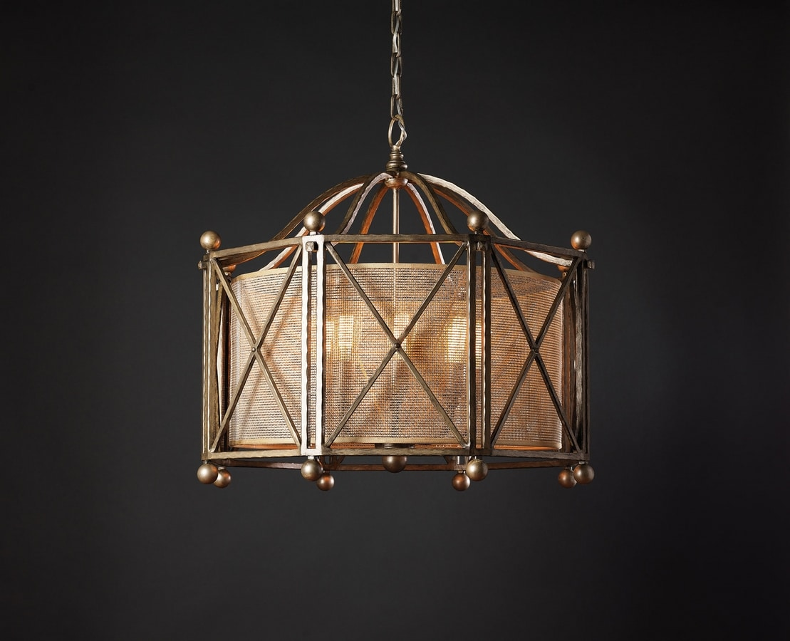 INFINITY HL1004CH-8, Chandelier with bronze effect finishes