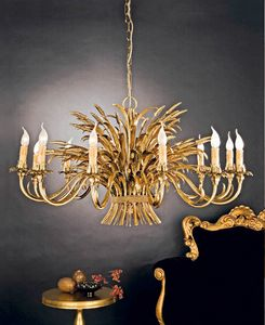 L.1160/12, Classic chandelier with gold leaf trim