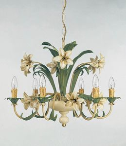 L.3635/6, Chandelier with floral decorations