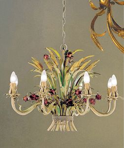 L.4655/8, Wrought iron chandelier, handmade