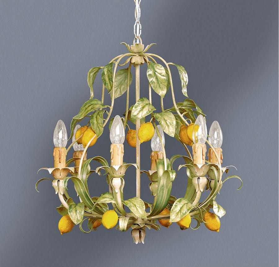 L.4885/6, Chandelier with leaves and lemons decoration