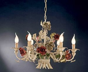 L.5105/6, Chandelier with wrought iron roses