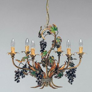 L.5190/6, Chandelier with decorations in the shape of bunches of grapes