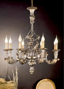 L.7440/8, Chandelier with silver decorations