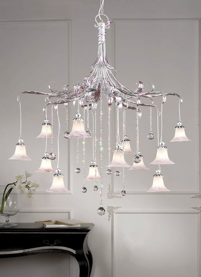 L.7685/12, Classic style chandelier with pendants
