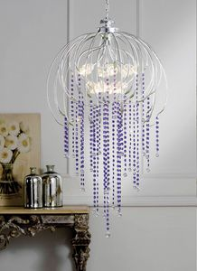 L.7730/12, Chandelier with Swarovski crystal pendants