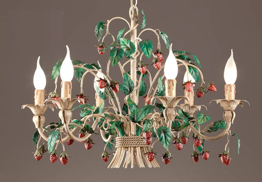 L.8335/6, Chandelier with decorative strawberries