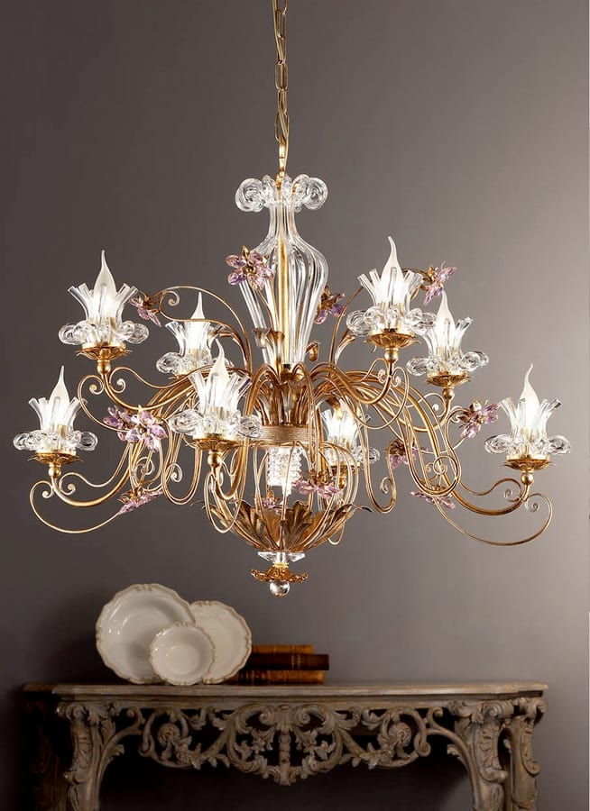 L.8395/8+1, Chandelier in classic style
