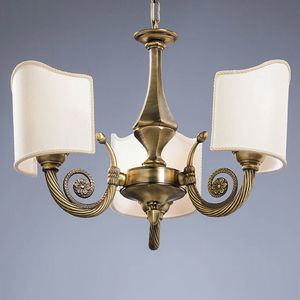 L32303, Chandelier in brass, with classic lines