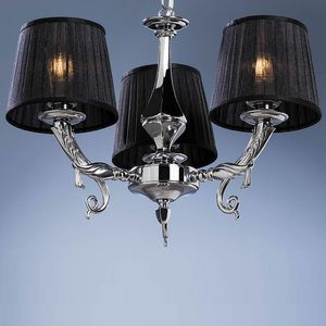 L32313, Brass chandelier with silver finish, with three lights