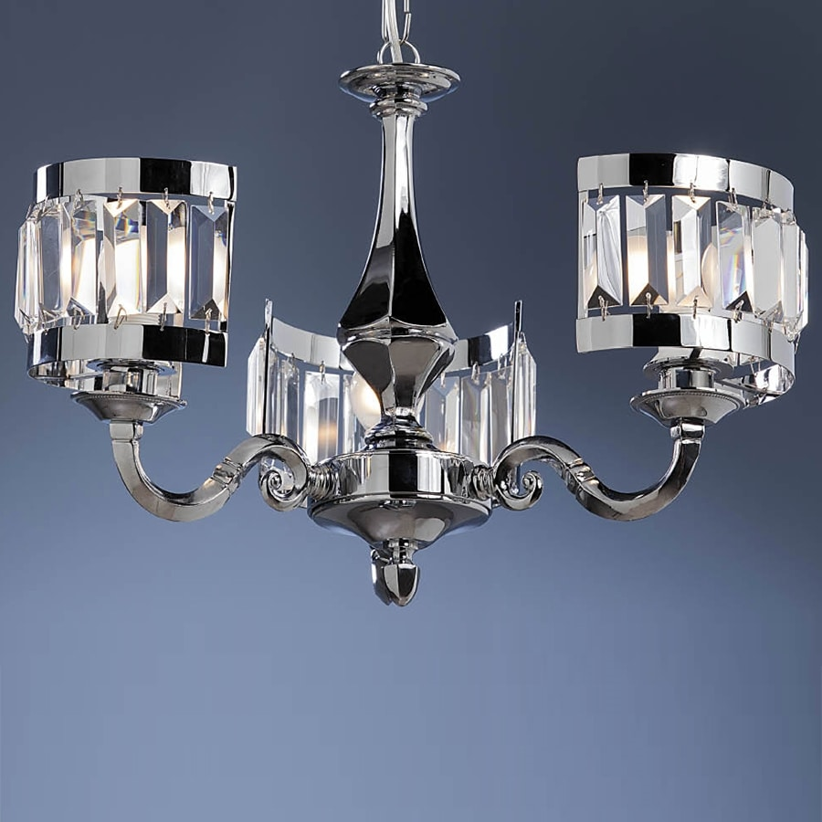 L32323, Chandelier with silver finish