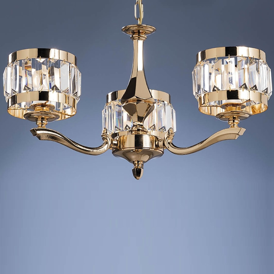 L32333, Chandelier in brass and crystal