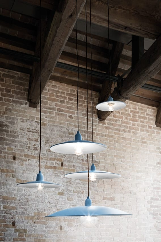 Lenti, Suspended lamp in metal