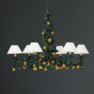 LIMONI HL1062CH-6, Iron chandelier with decorative lemons