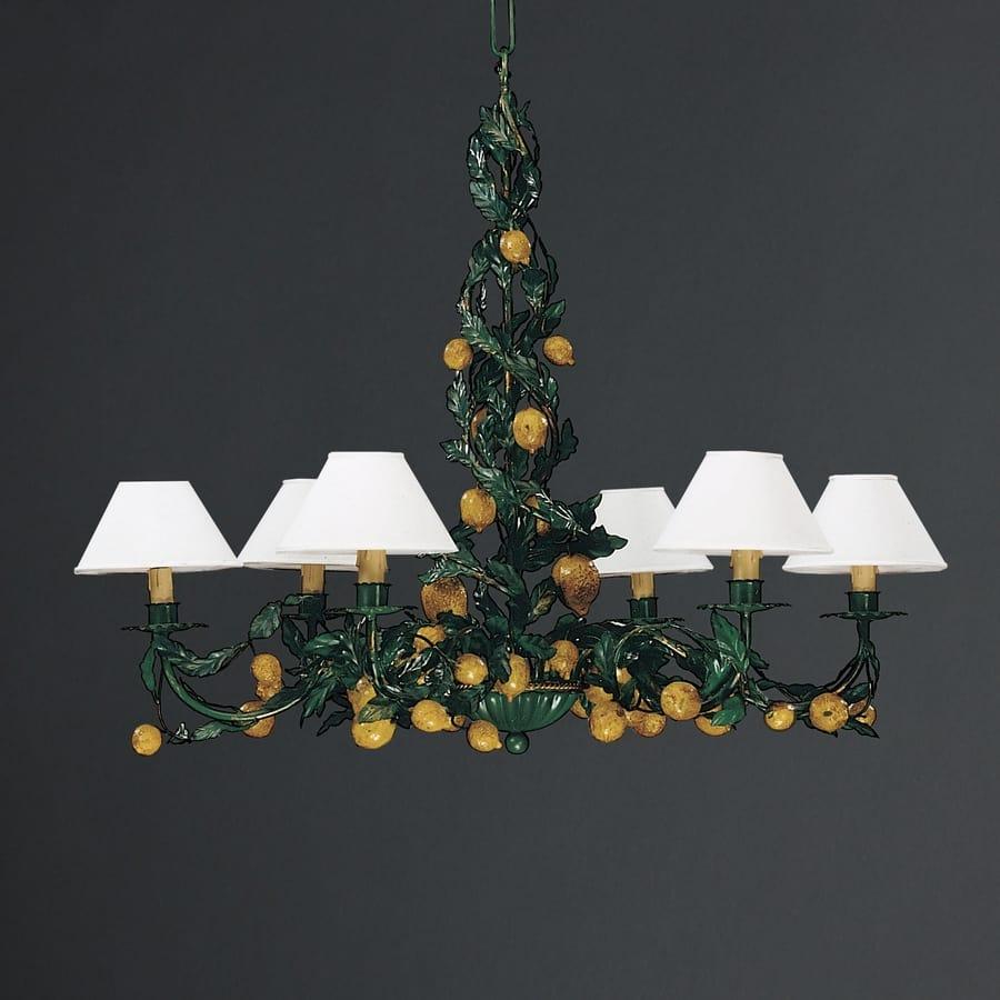 LIMONI HL1062CH-6, Iron chandelier with decorative lemons