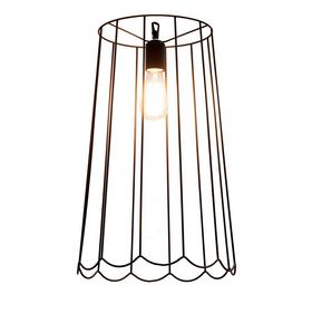 Lucilla SE650VN, Rust-colored iron suspension lamp