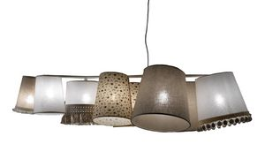 Marg� SE638B, Chandelier with various lampshades with different fantasies