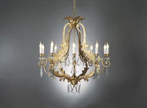 MAROT HL1055CH-10, Iron chandelier with crystals