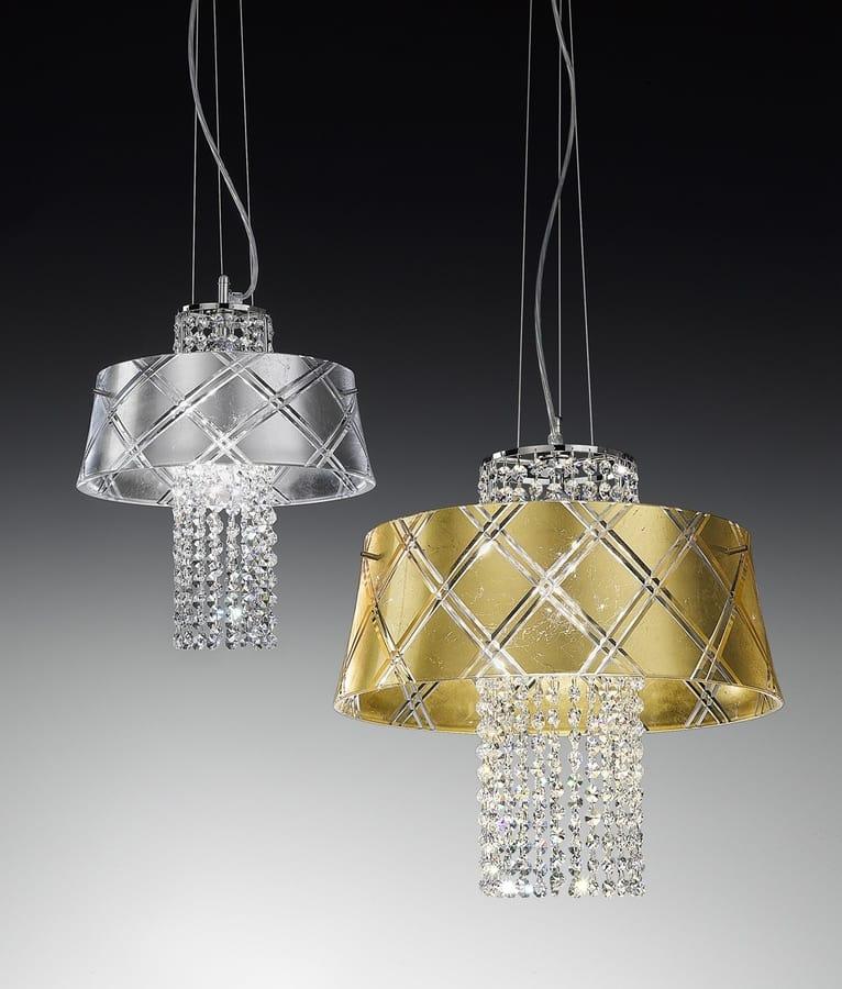 MEDUSA Ø 30/40, Pendant lamp with crystal pendants