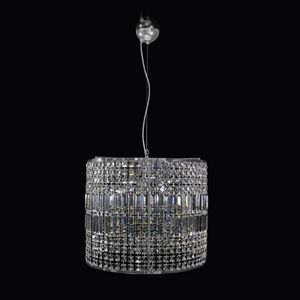 Orion SS3002-50�40-C, Cylindrical chandelier with Asfour crystals and lozenges