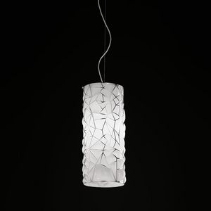 Orione Rs388-020, Suspension lamp in blown pink glass