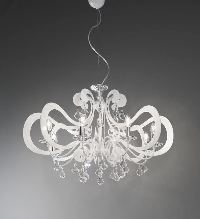 Ornella ceiling lamp, Metal chandelier modern, various finishes