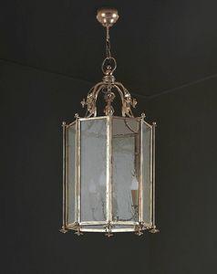 OTTAGONA FIORI HL1044CH, Iron chandelier in octagonal shape