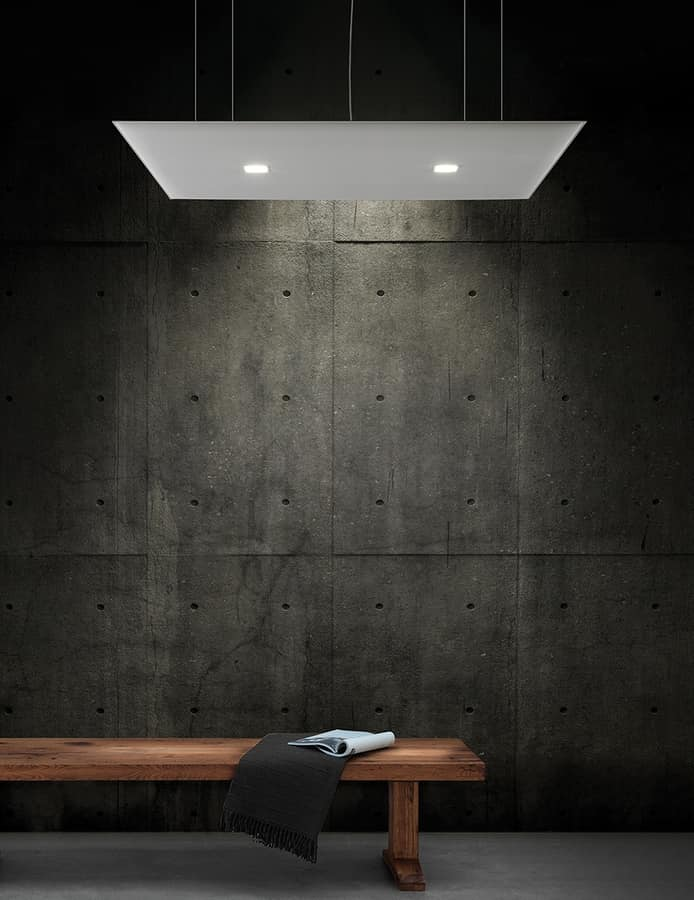 Oversize Lux, Sound absorbing panels with integrated LED light