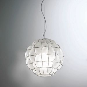 Pouff Rs383-035, Glass pendant lamp, handcrafted