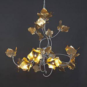 RASPO HL1073CH-15, Iron chandelier with decorative leaves