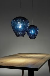 Reflex, Glass lamp with decorative geometric elements