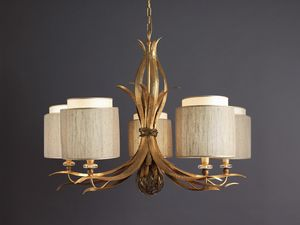 TIMELESS HL1005CH-5, Chandelier with laminated iron leaves