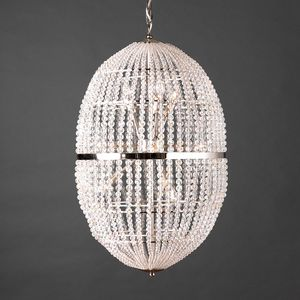 UOVO HL1090CH-12, Chandelier with transparent crystal spheres
