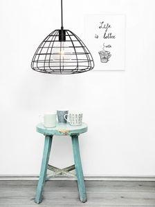 Wire, Suspension lamp in wire mesh