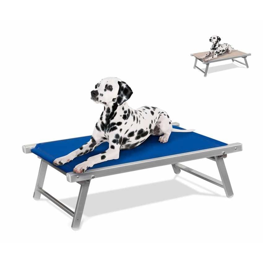 Dog bed cot aluminum deckchair animal dog bed DOGGY - LC104TEX, Aluminum dog bed