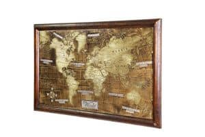 Art. AA465, World map engraved