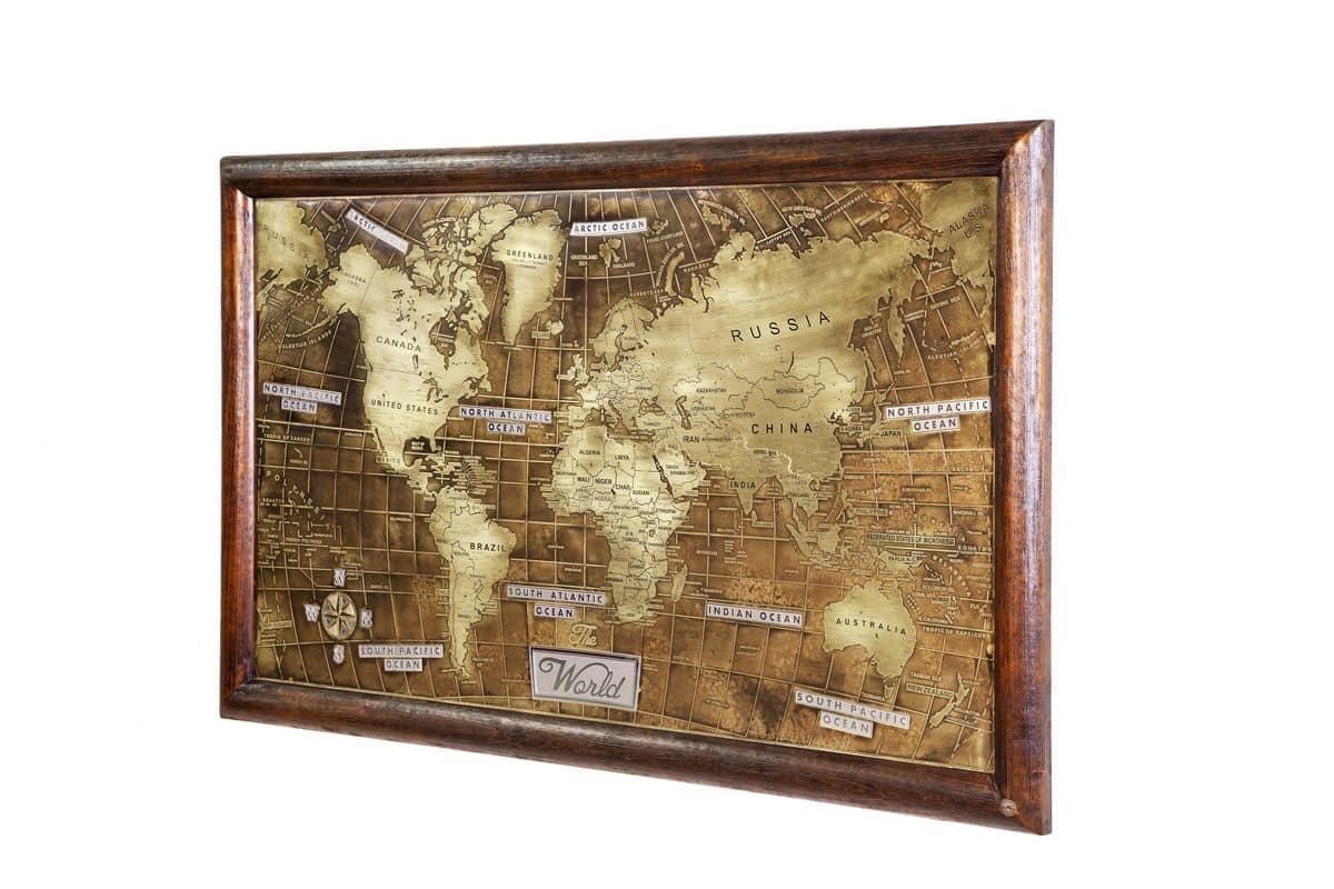Art. AA465, World map engraved