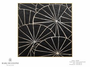 Black parasol – MT 609, Geometric painting