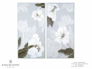 Delicate flowers I-II � MT 389-390, Bas-relief effect floral picture