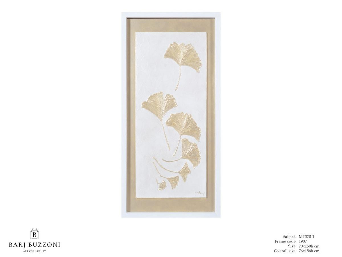 Gingko biloba ina a cool breeze - MT370-1, Bas-relief effect tactile artwork