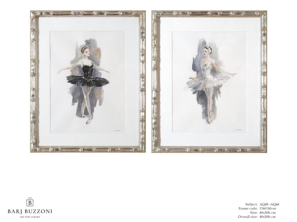 L'Etoile - The ballet dancer - AQ45 - AQ46, Watercolor painting with dancer
