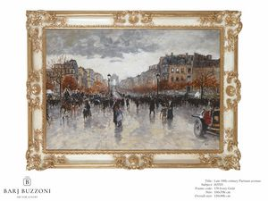 Late 19th Century, parisian Avenue � H 3703, Oil painted picture
