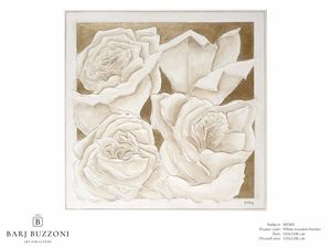 Roses, golden dream � MT 491, Picture with roses, bas-relief effect