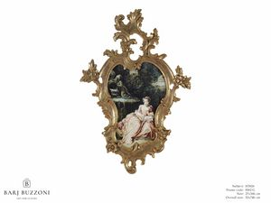 The expectation � H 3826, Painting with sumptuous carved frame