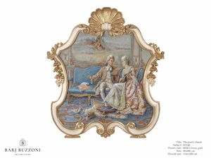 The poet�s charm � H 3740, Classic style painting, with carved frame