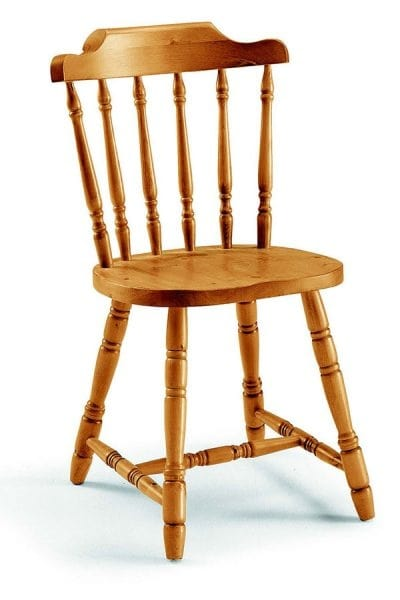 107 old America, Pine chair, with a traditional design