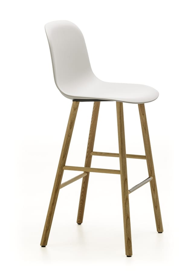 Máni Plastic ST-4WL, Stool in plastic and ash