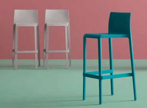 Volt-SG, Outdoor stool in polypropylene, stackable